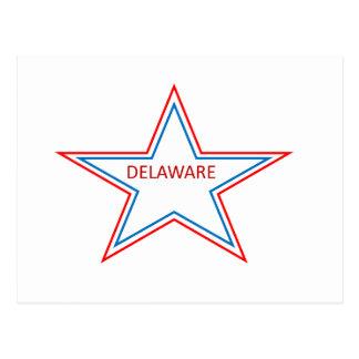 Delaware in einem Stern Postkarte
