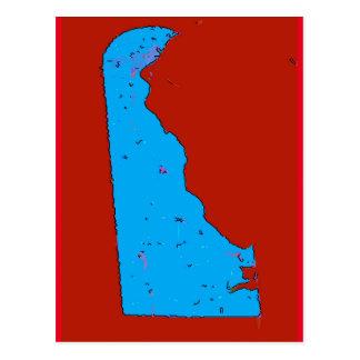 Delaware-Karte Postkarte