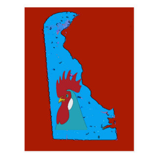Delaware-Karten-Blau-Henne Postkarte