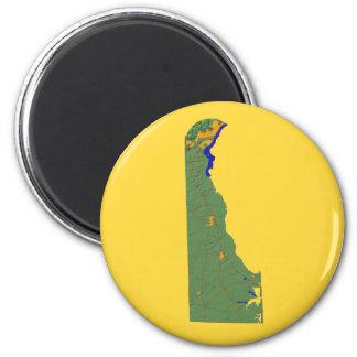 Delaware-Karten-Magnet Runder Magnet 5,7 Cm