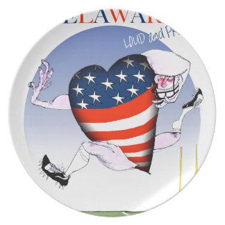 Delaware laute und stolz, tony fernandes melaminteller