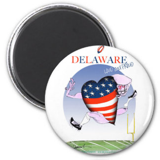 Delaware laute und stolz, tony fernandes runder magnet 5,7 cm