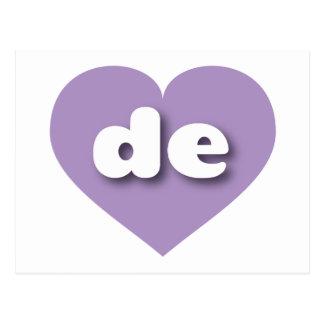 Delaware-Lavendelherz - MiniLiebe Postkarte