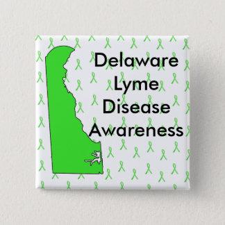Delaware-Lyme-Borreliose-Bewusstseins-Knopf Quadratischer Button 5,1 Cm