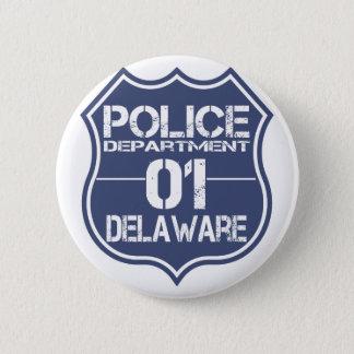 Delaware-Polizeidienststelle-Schild 01 Runder Button 5,1 Cm