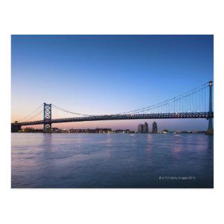 Delaware River, Brücke Bens Franklin Postkarte