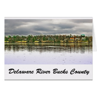 Delaware River Bucks County Karte