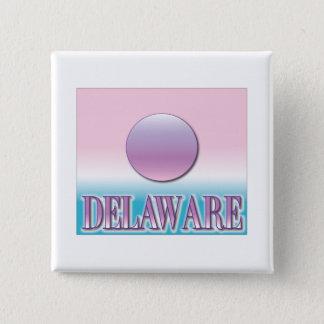 Delaware-Spritzpistolen-Sonnenuntergang Quadratischer Button 5,1 Cm