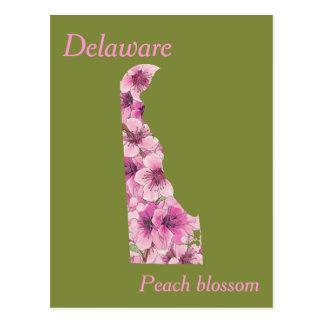Delaware-Staats-Blumen-Collagen-Karte Postkarten