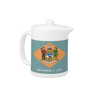 Delaware-Staats-Flaggen-Teekanne