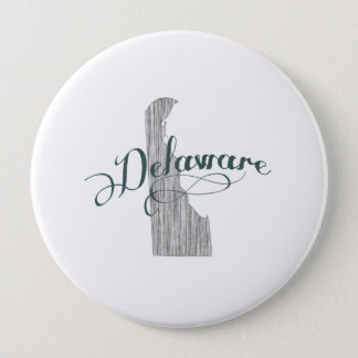 Delaware-Staats-Typografie Runder Button 10,2 Cm