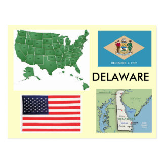 Delaware, USA Postkarte