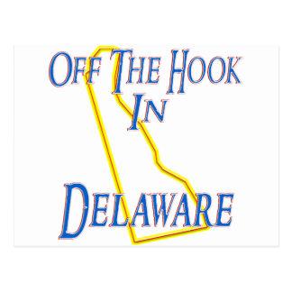 Delaware - weg vom Haken Postkarte