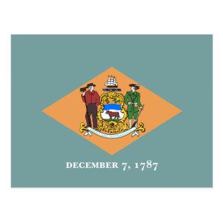 Delawares Flagge Postkarte