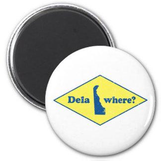 Delawhere? Vintages Delaware Runder Magnet 5,1 Cm