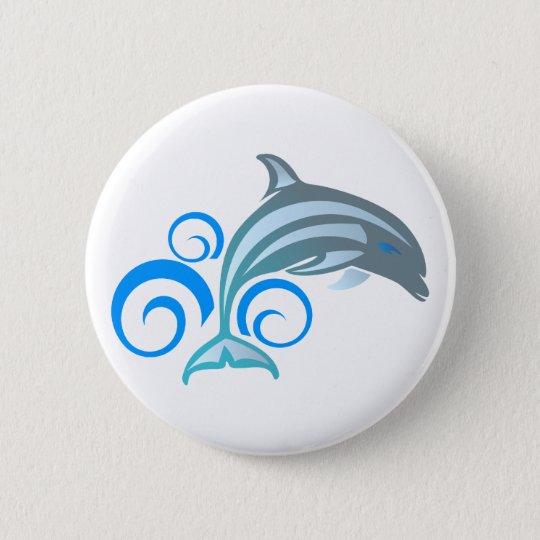 Delfin dolphin runder button 5,1 cm