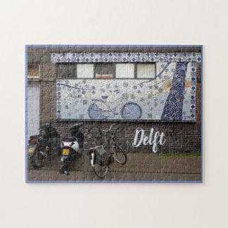 Delftblau und -fahrräder puzzle