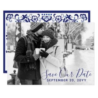 Delfts Blauw | Delft Blau-Save the Date Foto Einladung