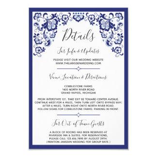 Delfts Blauw | Delft blaue niederländische Einladung