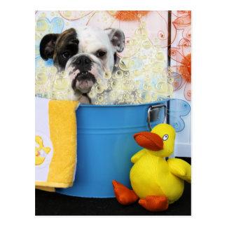 Delilah - englische Bulldogge Postkarte