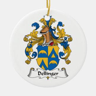 Dellinger Familienwappen Rundes Keramik Ornament