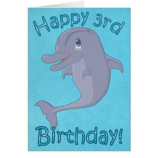 Delphin-3. Geburtstags-Karte Karte