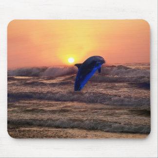 Delphin am Sonnenuntergang Mousepad