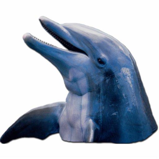Delphin-Bild-Foto-Skulptur Freistehende Fotoskulptur