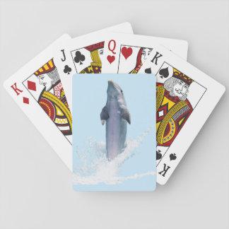 Delphin-blaue klassische Spielkarten