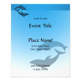 Delphin-Delphin-kleiner Ereignis-Flyer