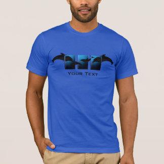 Delphin-Delphin-Ozean-Blau-T - Shirt