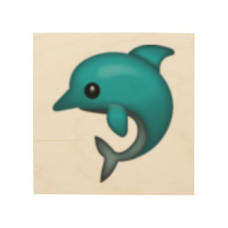 Delphin - Emoji Holzwanddeko