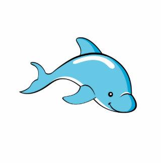 Delphin-Foto-Skulptur Freistehende Fotoskulptur