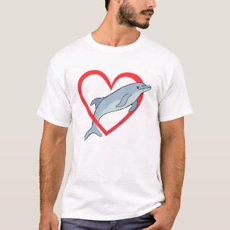 Delphin-Herz T-Shirt