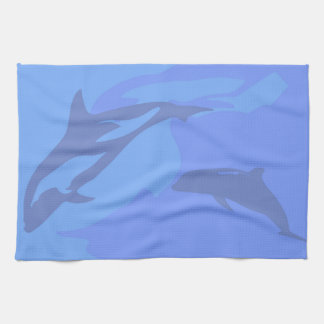 Delphin-Hintergrund Küchentuch