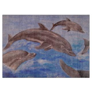 Delphin hohe fünf schneidebrett