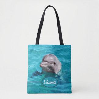Delphin im blauen Wasser personifizieren Tasche