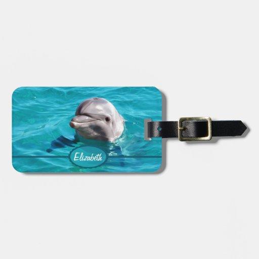Delphin im blaues Wasser-Foto Kofferanhänger