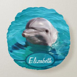 Delphin im blaues Wasser-Foto Rundes Kissen