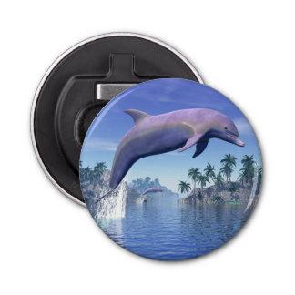Delphin in den Tropen - 3D übertragen Flaschenöffner
