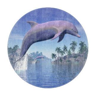 Delphin in den Tropen - 3D übertragen Schneidebrett