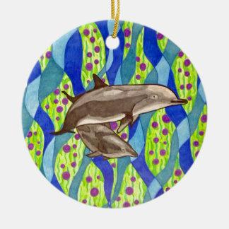 Delphin Keramik Ornament