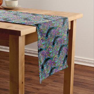 Delphin-Kunst-Entwurf Kurzer Tischläufer
