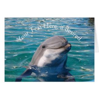 Delphin-Lächeln Karte