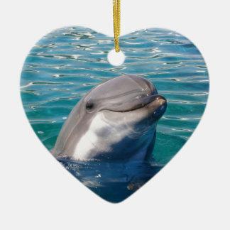 Delphin-Lächeln Keramik Herz-Ornament