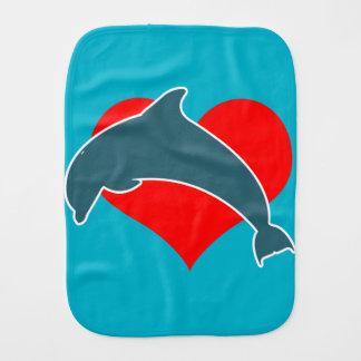 Delphin Luv Burp-Stoff Baby Spucktuch