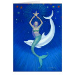 Delphin-Mond-Meerjungfrau Karten