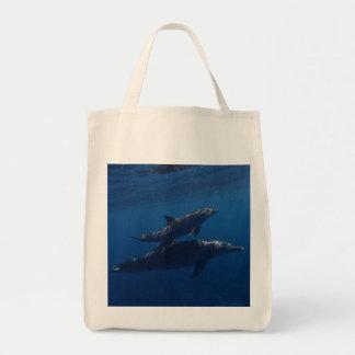 Delphin-Mutter und Kalb Tragetasche