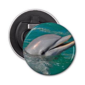 Delphin-nahes hohes flaschenöffner