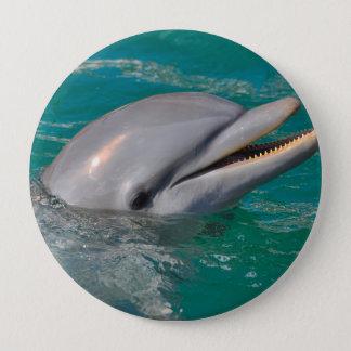 Delphin-nahes hohes runder button 10,2 cm